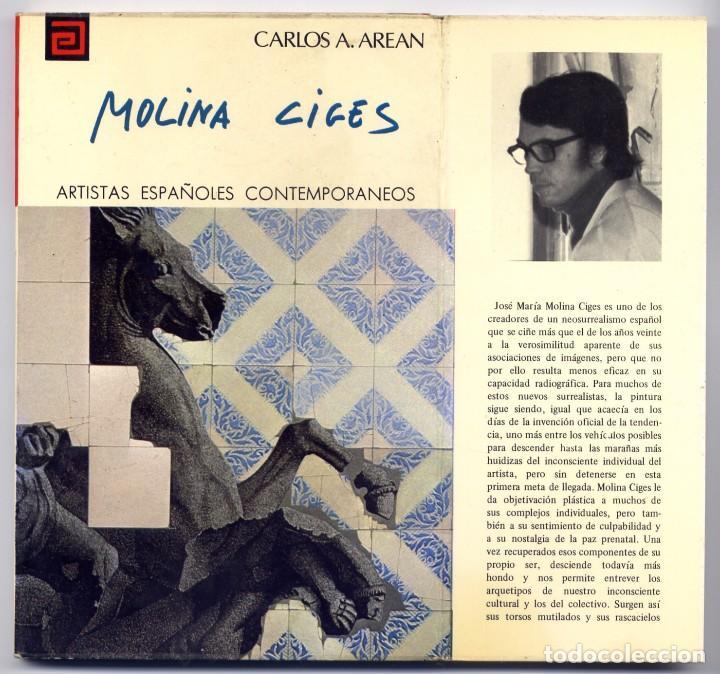 """AREAN, CARLOS A. JOSÉ MARÍA MOLINA CIGES. 1979 [""""ARTISTAS ESPAÑOLES CONTEMPORÁNEOS""""]. (Libros de Segunda Mano - Bellas artes, ocio y coleccionismo - Otros)"""
