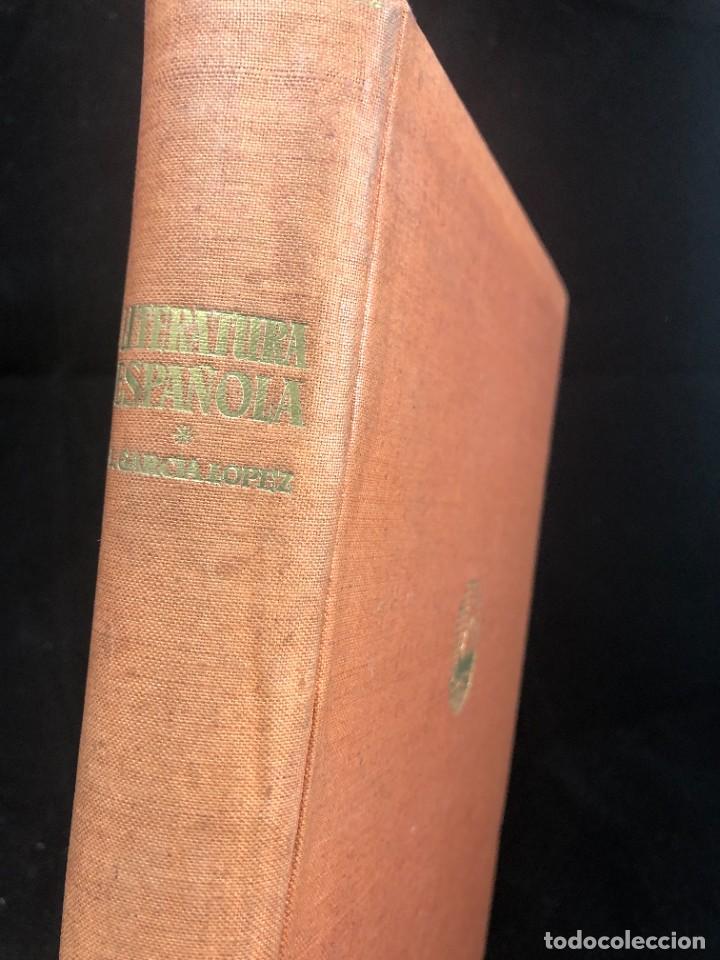 Libros de segunda mano: Historia De La Literatura Española. José Garcia Lopez. Ediciones Teide. 1ª edición 1948 - Foto 2 - 261455535