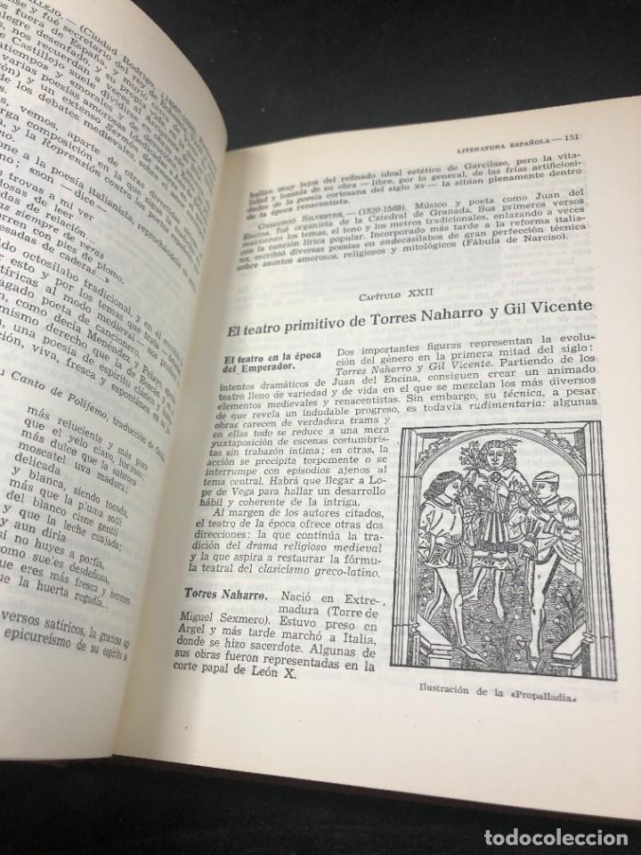 Libros de segunda mano: Historia De La Literatura Española. José Garcia Lopez. Ediciones Teide. 1ª edición 1948 - Foto 9 - 261455535
