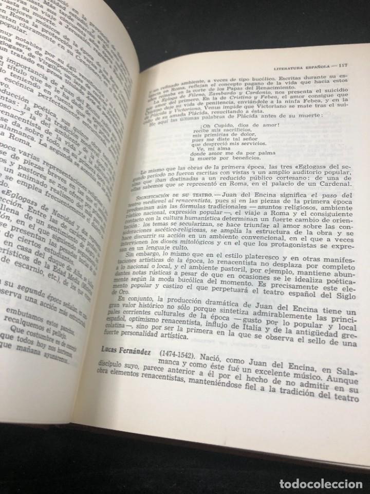 Libros de segunda mano: Historia De La Literatura Española. José Garcia Lopez. Ediciones Teide. 1ª edición 1948 - Foto 10 - 261455535