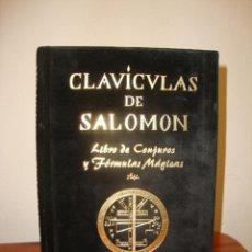 Libros de segunda mano: CLAVÍCULAS DE SALOMÓN. LIBRO DE CONJUROS Y FÓRMULAS MÁGICAS - EDITORIAL HUMANITAS. Lote 261526815