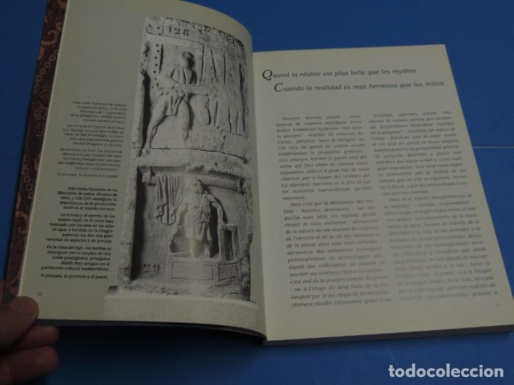Libros de segunda mano: TEINTURES PRÉCIEUSES DE LA MÉDITERRANÉE. TINTES PRECIOSOS DEL MEDITERRÁNEO - Foto 5 - 261561195