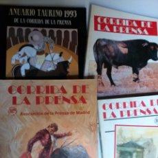 Libros de segunda mano: 3 REVISTAS CORRIDA DE LA PRENSA 1982/1983 Y 1986 MÁS ANUARIO TAURINO 1993 . TOROS. Lote 261613105
