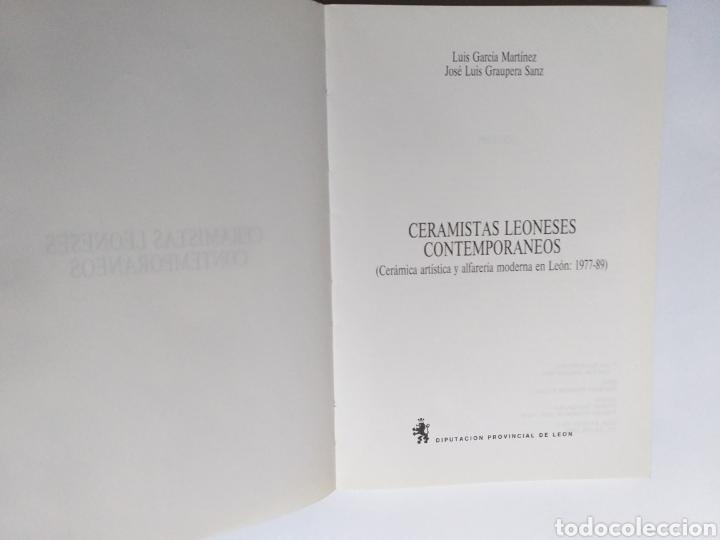 Libros de segunda mano: Ceramistas leoneses contemporáneos. Cerámica artística y alfarería moderna en León Luis García Martí - Foto 7 - 261619495