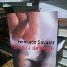 Libros de segunda mano: EL VALOR DE ELEGIR, FERNANDO SAVATER, ED. ARIEL. Lote 262389270