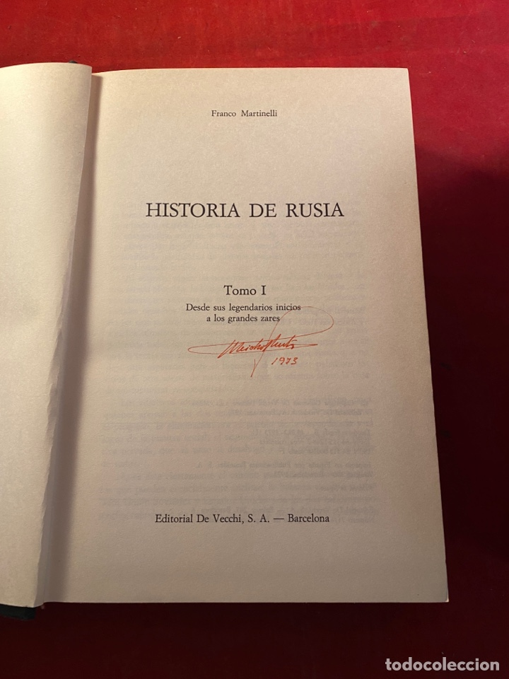 Libros de segunda mano: HISTORIA DE RUSIA Franco Martinelli - Foto 3 - 262554250