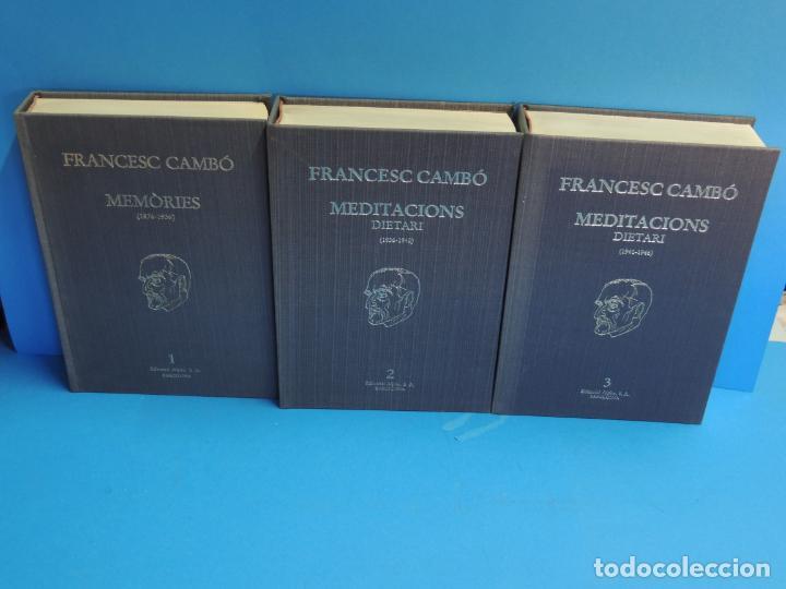 MEMORIES, MEDITACIONS I DIETARI. 3 VOLS. - FRANCESC CAMBÓ (Libros de Segunda Mano - Historia - Otros)