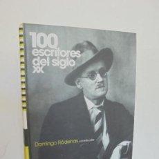 Libros de segunda mano: 100 ESCRITORES DEL SIGLO XX. AMBITO INTERNACIONAL.DOMINGO RODENAS. EDITORIAL ARIEL 2008.. Lote 262740655