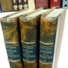 Libros de segunda mano: 1973 - LEON PINELO - EPITOME DE LA BIBLIOTHECA ORIENTAL, Y OCCIDENTAL, NAUTICA, Y GEOGRÁFICA. Lote 262809065