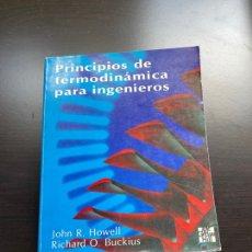 Libros de segunda mano: PRINCIPIOS DE TERMODINÁMICA PARA INGENIEROS. Lote 262817105