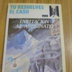 Libros de segunda mano: INVITACIÓN AL ASESINATO - TÚ RESUELVES EL CASO Nº 2 (ALLEN SHARP) LIBRO JUEGO ARÍN. Lote 262824755