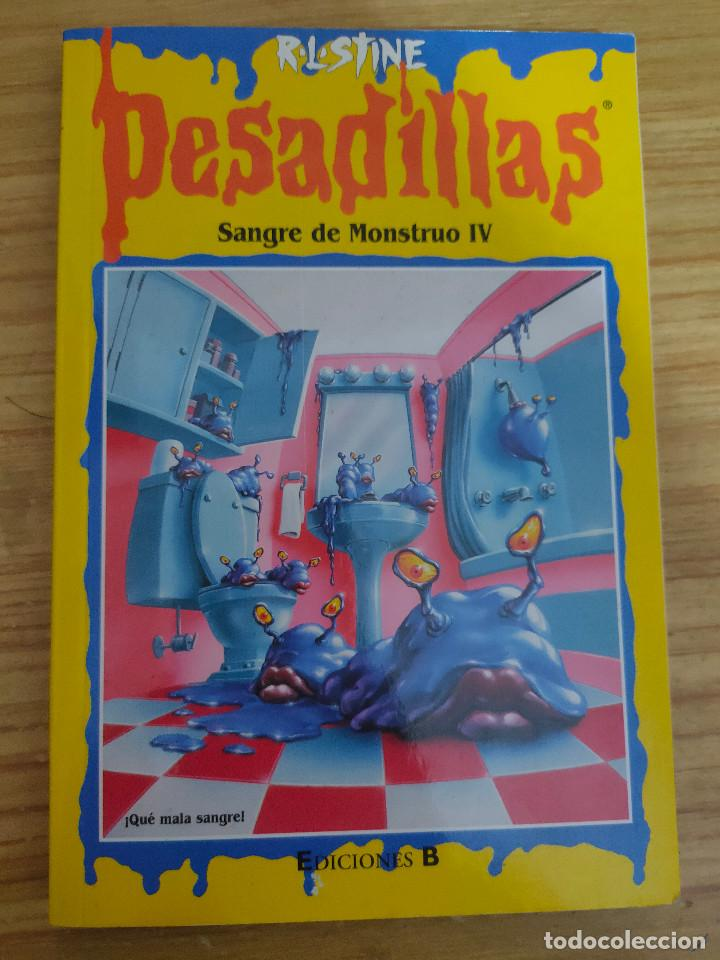 SANGRE DE MONSTRUO IV - PESADILLAS Nº 60 (R. L. STINE) ÚLTIMO DE LA COLECCIÓN (Libros de Segunda Mano - Literatura Infantil y Juvenil - Otros)