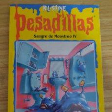 Libros de segunda mano: SANGRE DE MONSTRUO IV - PESADILLAS Nº 60 (R. L. STINE) ÚLTIMO DE LA COLECCIÓN. Lote 262824780