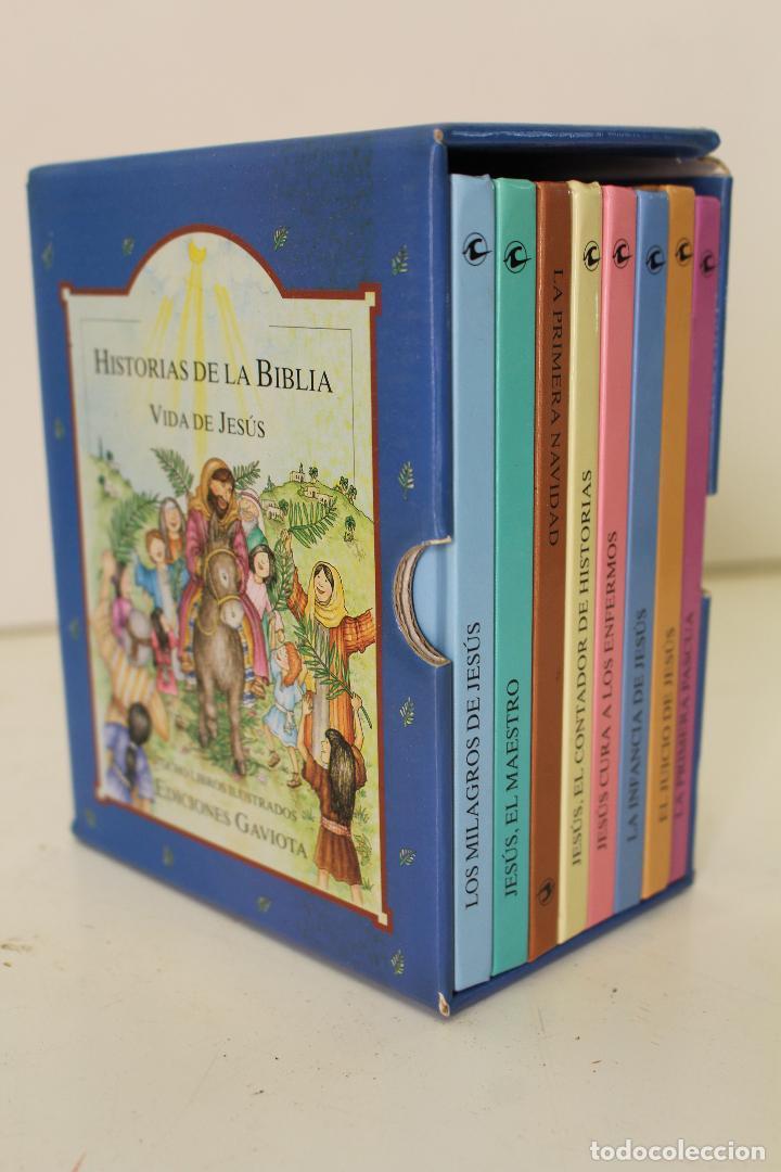 HISTORIAS DE LA BIBLIA.- VIDA DE JESUS. OCHO LIBROS ILUSTRADOS. EDICIONES GAVIOTA (Libros de Segunda Mano - Literatura Infantil y Juvenil - Otros)