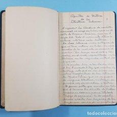 Libros de segunda mano: CURIOSO CUADERNO CON 62 PAGINAS DE APUNTES DE HISTORIA DE LA LITERATURA CUBANA, AÑOS 60. Lote 262862940