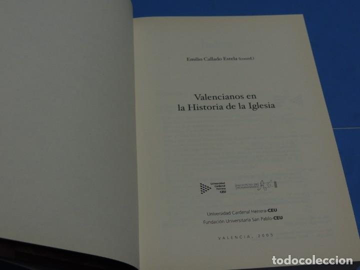 Libros de segunda mano: VALENCIANOS EN LA HISTORIA DE LA IGLESIA.- EMILIO CALLADO ESTELA.(coord.) - Foto 3 - 262913670