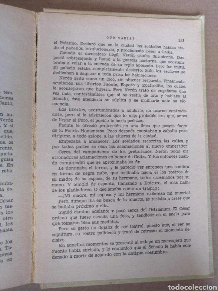Libros de segunda mano: Quo vadis? Enrique Sienkiewicz. Colección historias selección. Serie Clasicos juveniles 4. Libro - Foto 5 - 262937350