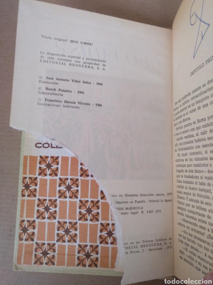 Libros de segunda mano: Quo vadis? Enrique Sienkiewicz. Colección historias selección. Serie Clasicos juveniles 4. Libro - Foto 3 - 262937350