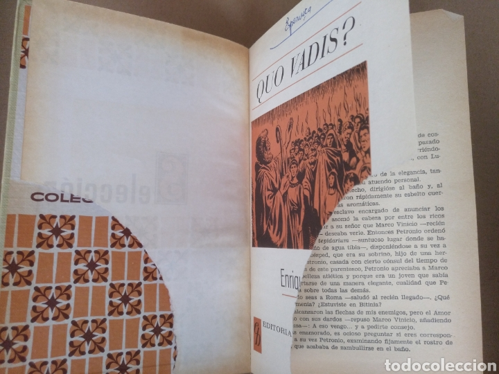 Libros de segunda mano: Quo vadis? Enrique Sienkiewicz. Colección historias selección. Serie Clasicos juveniles 4. Libro - Foto 2 - 262937350