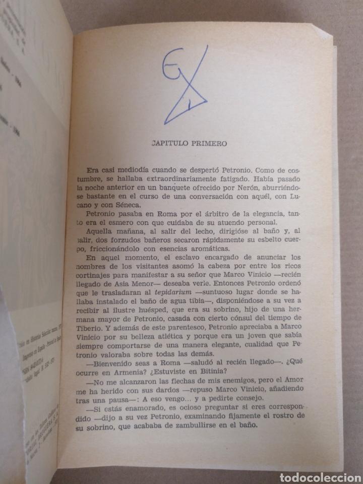 Libros de segunda mano: Quo vadis? Enrique Sienkiewicz. Colección historias selección. Serie Clasicos juveniles 4. Libro - Foto 4 - 262937350