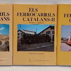 Libros de segunda mano: ELS FERROCARRILS CATALANS I-II-III / CARLES SALMERÓN I BOSCH / ELS TRENS DE CATALUNYA / BUEN ESTADO.. Lote 262953115