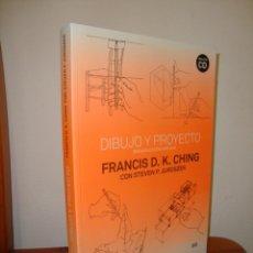 Libros de segunda mano: DIBUJO Y PROYECTO. SEGUNDA EDICIÓN AMPLIADA - FRANCIS D. K. CHING, STEVEN P. JUROSZEK - GUSTAVO GILI. Lote 263029095