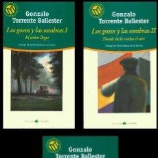 Libros de segunda mano: TORRENTE BALLESTER. BIBLIOTECA EL MUNDO. Nº 1+2+3. LOS GOZOS Y LAS SOMBRAS. 3 TOMOS.. Lote 263084760