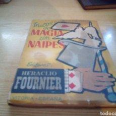 Libros de segunda mano: ANTIGUO MANUAL HERACLIO FOURNIER. TRUCOS DE MAGIA CON CARTAS. MADRID. 1958. Lote 263143540