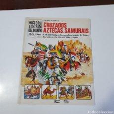 Libros de segunda mano: LIBRO, HISTORIA ILUSTRADA PARA NIÑOS, CRUZADOS, AZTECAS, SAMURAIS, EDICIONES PLESA.. Lote 263174825