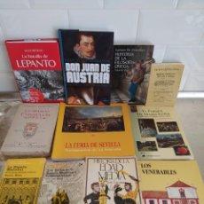 Libros de segunda mano: LOTE LIBROS DE HISTORIA DIFERENTES TEMÁTICAS. LOTE COMPLETO. Lote 263271660