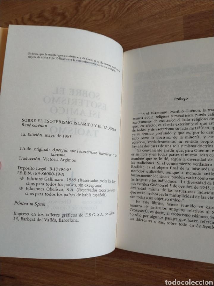 Libros de segunda mano: Sobre el esoterismo islámico y el taoísmo. René Guénon. - Foto 5 - 263711475