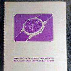 Libros de segunda mano: LOS PRINCIPALES TIPOS DE CRONOGRAFOS EXPLICADOS POR MEDIO DE LAS ESFERAS - 1952 - RELOJES. Lote 264151680