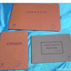 Libros de segunda mano: LIBRETAS DE JORNALES 2 Y UNA DE SALARIOS, AÑOS 40-50 SIN USO- IMPORTANTE LEER DESCRIPCION ENVIOS. Lote 264537719