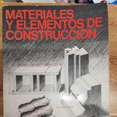 Libros de segunda mano: MATERIALES Y ELEMENTOS DE CONSTRUCCIÓN: ENCICLOPEDIA CEAC DEL DELINEANTE. 2.ª EDIC. 1977. Lote 265808379