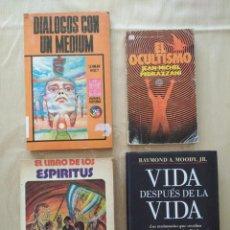 Libros de segunda mano: LIBRO ESPÍRITUS - KARDEC + VIDA DESPUÉS DE LA VIDA + DIALOGOS MEDIUM + OCULTISMO. Lote 265827769