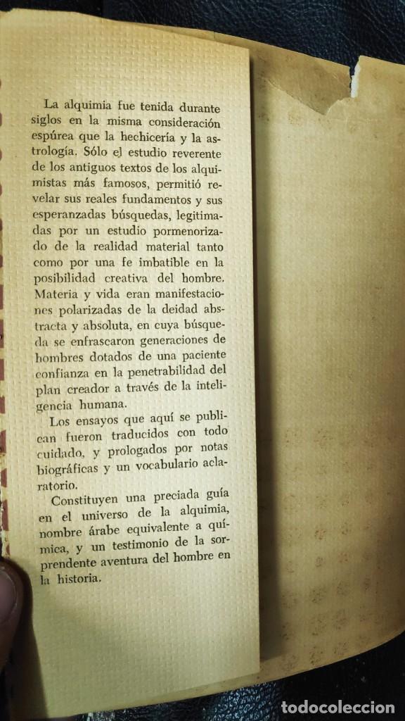 Libros de segunda mano: TEXTOS BASICOS DE ALQUIMIA ( HERMES, ALBERTO EL GRANDE,R.BACON A,DE VILLANUEVA,R. LULIO PARACELSO - Foto 5 - 265957968