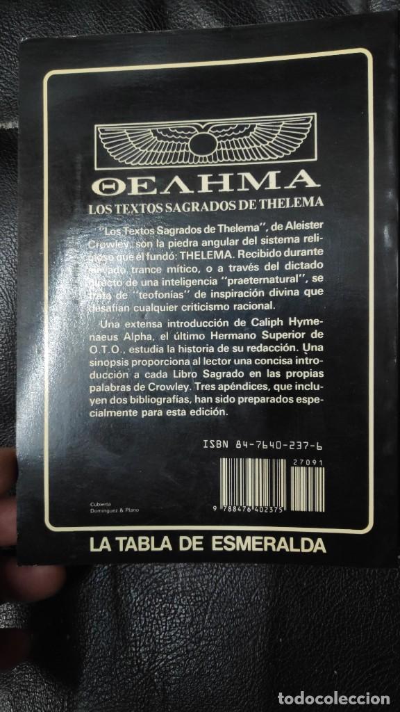 Libros de segunda mano: LOS TEXTOS SAGRADOS DE THELEMA ( ALEISTER CROWLEY ) EDAF TABLA ESMERALDA 1988 - Foto 2 - 266129663