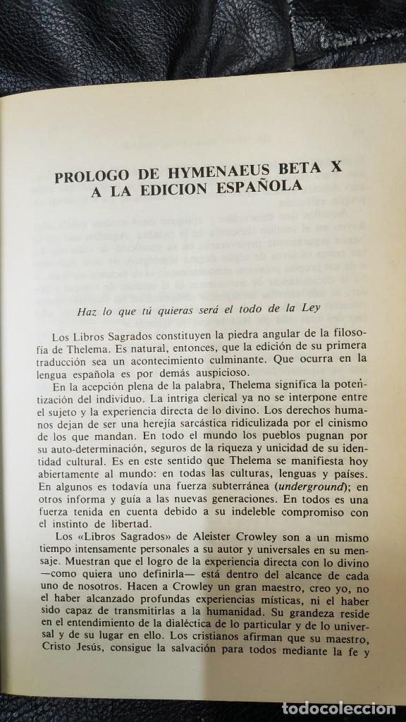 Libros de segunda mano: LOS TEXTOS SAGRADOS DE THELEMA ( ALEISTER CROWLEY ) EDAF TABLA ESMERALDA 1988 - Foto 6 - 266129663