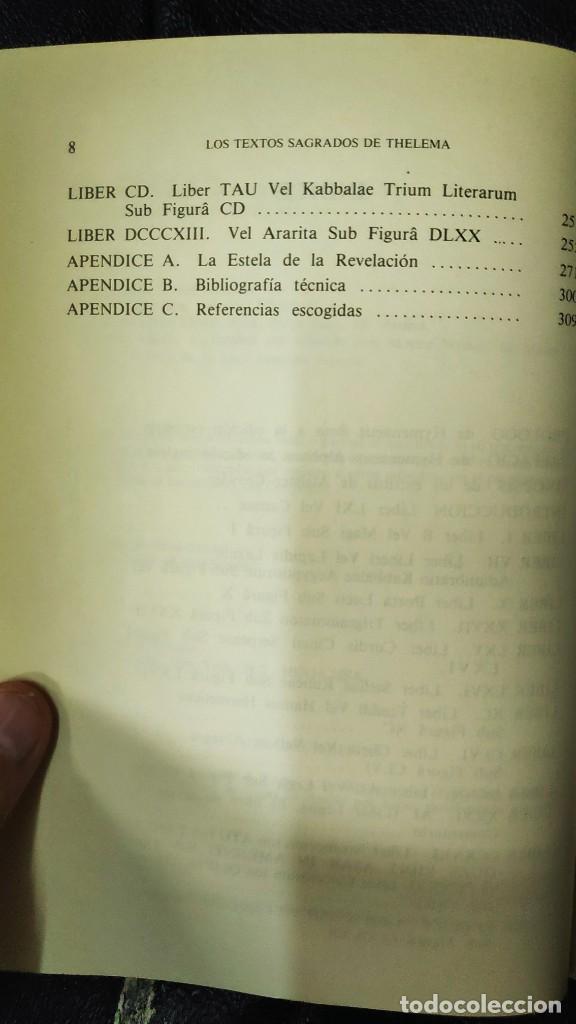 Libros de segunda mano: LOS TEXTOS SAGRADOS DE THELEMA ( ALEISTER CROWLEY ) EDAF TABLA ESMERALDA 1988 - Foto 8 - 266129663