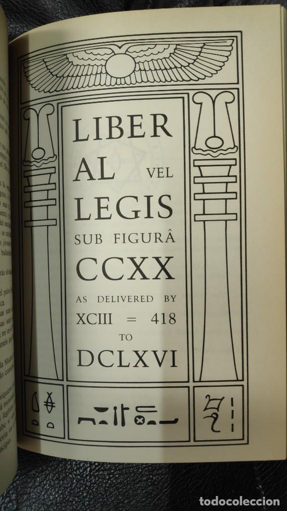 Libros de segunda mano: LOS TEXTOS SAGRADOS DE THELEMA ( ALEISTER CROWLEY ) EDAF TABLA ESMERALDA 1988 - Foto 9 - 266129663
