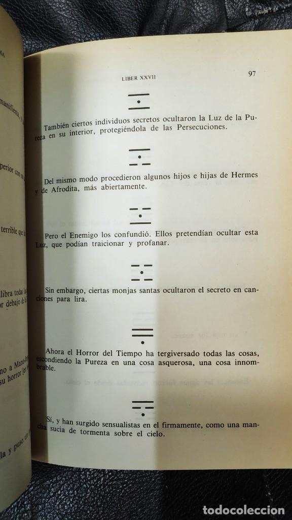 Libros de segunda mano: LOS TEXTOS SAGRADOS DE THELEMA ( ALEISTER CROWLEY ) EDAF TABLA ESMERALDA 1988 - Foto 13 - 266129663