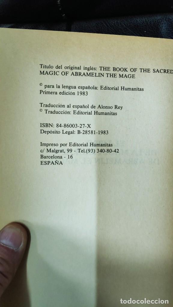 Libros de segunda mano: EL LIBRO DE LA MAGIA SAGRADA DE ABRAMELIN EL MAGO ( HUMANITAS 1983 ) - Foto 5 - 266267358