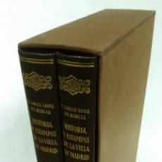 Libros de segunda mano: 1984 - SAINZ DE ROBLES - HISTORIAS Y ESTAMPAS DE LA VILLA DE MADRID - 2 TOMOS, FACSÍMIL. Lote 266306743