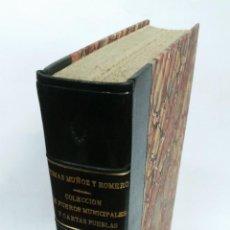 Libros de segunda mano: 1972 - MUÑOZ ROMERO - COLECCIÓN DE FUEROS MUNICIPALES Y CARTAS PUEBLAS DE LOS REINOS DE CASTILLA. Lote 266308158