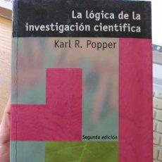 Livros em segunda mão: LA LÓGICA DE LA INVESTIGACIÓN CIENTÍFICA KARL R. POPPER , Y VÍCTOR SÁNCHEZ DE ZAVAL ED.TECNOS (2008). Lote 266744678
