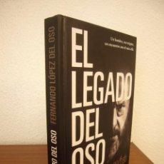 Libros de segunda mano: EL LEGADO DEL OSO (JIMÉNEZ) LUCIÉRNAGA, 2020. FERNANDO LÓPEZ DEL OSO. TAPA DURA. COMO NUEVO.. Lote 267180419