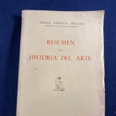 Libros de segunda mano: RESUMEN DE HISTORIA DEL ARTE. Lote 267546279