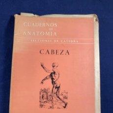 Libros de segunda mano: CUADERNOS DE ANATOMÍA LECCIONES DE CÁTEDRA CABEZA. Lote 267546479