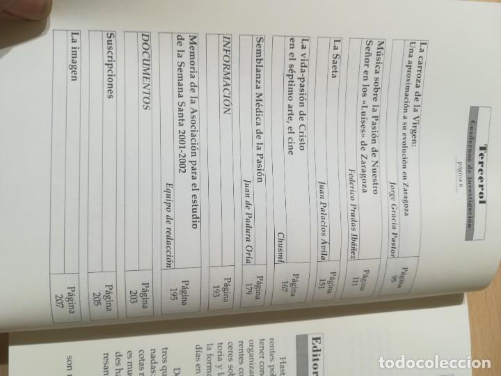 Libros de segunda mano: TERCEROL / ASOCIACION ESTUDIO SEMANA SANTA 6 DE 2001 2002 / ZARAGOZA / AI29 / ARAGON - Foto 7 - 267660594