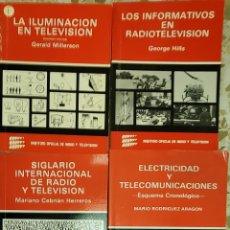 Libros de segunda mano: LOTE DE LIBROS, TELEVISIÓN, ELECTRICIDAD, TELECOMUNICACIONES, RADIO, ETC. Lote 267763639